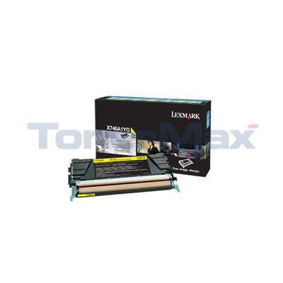 LEXMARK X746 TONER CARTRIDGE YELLOW RP